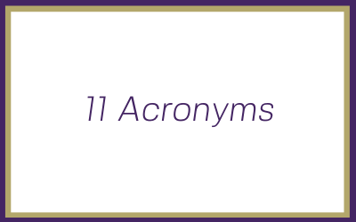 11 acronyms explained